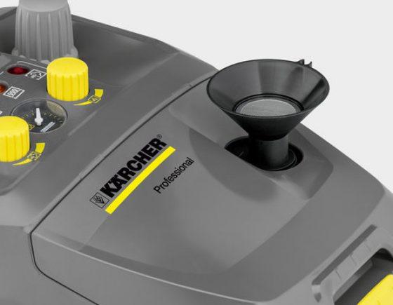 La Limpiadora a vapor SG 4/4 es una limpiadora de vapor compacta y robusta que destaca por sus excelentes prestaciones y su desinfección certificada